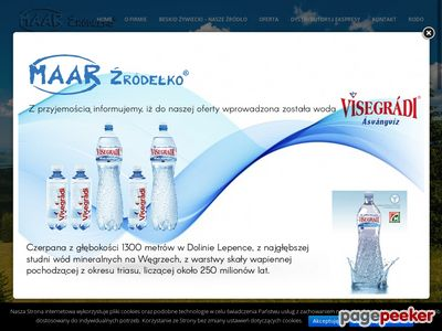 Naturalna woda mineralna - woda niegazowana