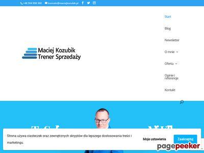 Maciej Kozubik - TRENER I COACH O ROZWOJU BIZNESU