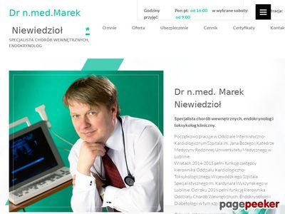 Praktyka lekarska endokrynolog Marek Niewiedzioł