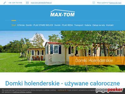 Www.max-tom.com. Tanie domki holenderskie