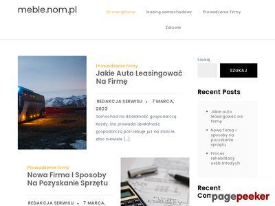 Http://meble.nom.pl : producent mebli na wymiar