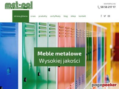 MET-POL metalowe szafki do szkół