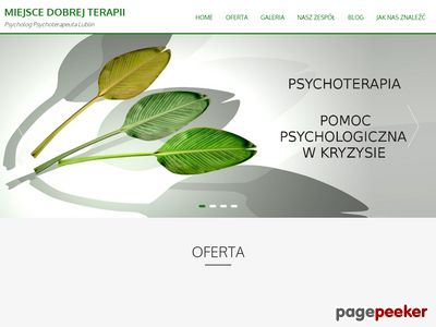 Miejsce dobrej terapi - poradnia psychologa