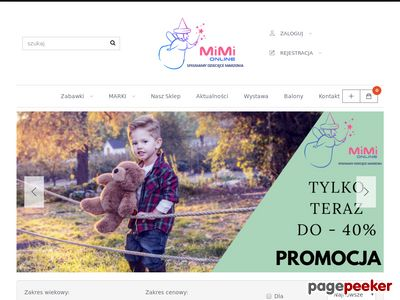 Sklep internetowy z zabawkami Mimi
