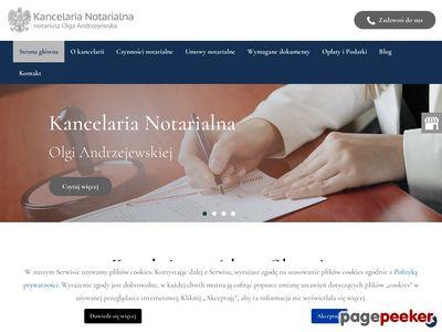 Olsztyn - Kancelaria Notarialna Olga Andrzejewska