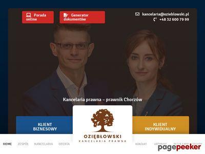 Paweł Oziębłowski - kancelaria prawna w Chorzowie