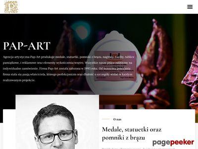PAP-ART. pl - statuetki, pomniki, medale,