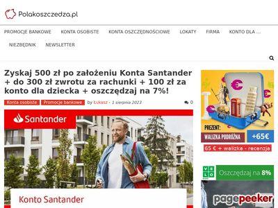 PolakOszczedza.pl | Promocje bankowe | Ranking kont osobistych