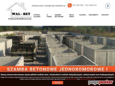 Producent szamb betonowych | WAL-BET
