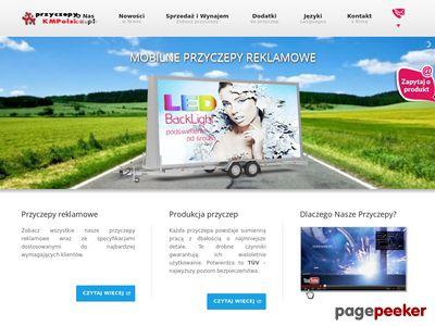 Reklama mobilna i przyczepa reklamowa.