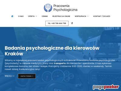 Badania psychotechniczne Kraków, psychotesty Prądnik