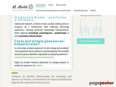 Małgorzata Małek - psycholog i psychoterapeuta