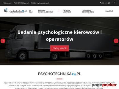Psychotechnika24.pl - Badania Psychotechniczne
