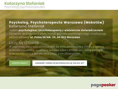 Psychoterapeuta, Psycholog Warszawa - Mokotów | Katarzyna Stefaniak