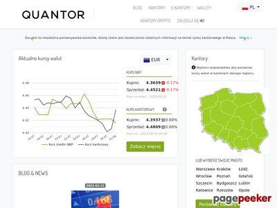 Porównywarka kantorów wymiany walut – Quantor