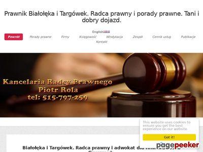 Radca Prawny i Prawnik. Porady prawne w dzielnicy Białołęka.