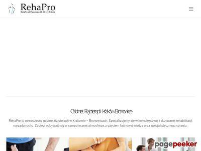Gabinet Rehabilitacji i fizjoterapii Kraków - Rehapro
