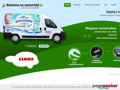 Oklejanie samochodów - Reklama na samochód - Bydgoszcz - Toruń