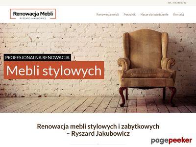 Renowacja mebli Pruszków odnawianie starych mebli