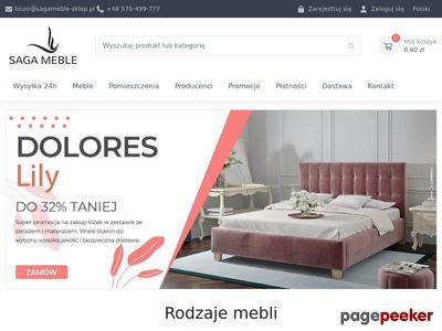 Internetowy sklep meblowy - sagameble-sklep.pl