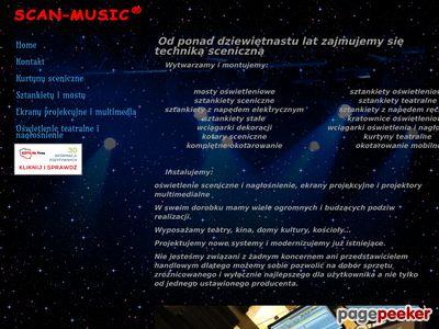Http://scanmusic.pl : kurtyny teatralne