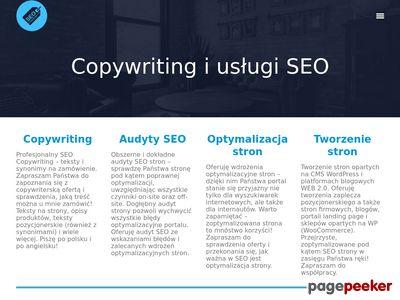 Copywriting i usługi SEO - Damian Grądzki