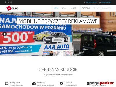 Werbe - Agencja reklamowa Poznań - mobilne przyczepy reklamowe
