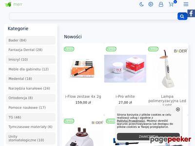 Sklep stomatologiczny- MERR online