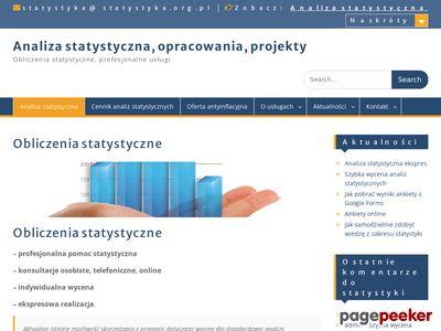 Obliczenia statystyczne Bydgoszcz