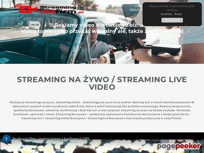 Streaming live, transmisje na żywo, streaming dla firm Warszawa i cała Polska
