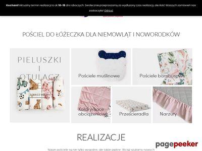Pościel dla dzieci do łóżeczka - szwalniasnow.pl