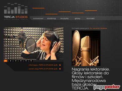 Tercja.com.pl : Profesjonalne nagrania lektorskie