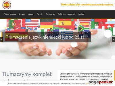 tlumaczeniahiszpanski.eu - Tłumaczenia język hiszpański