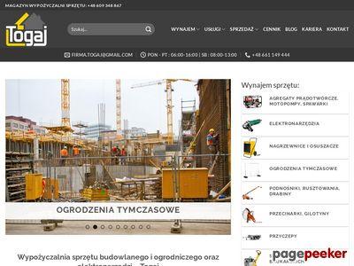 Wynajem koparki Śląsk - Togaj
