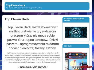 Top Eleven Hack - Dodaj za darmo tokeny, pieniądze, żetony