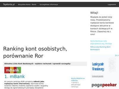 Ranking ror na topkonta.pl