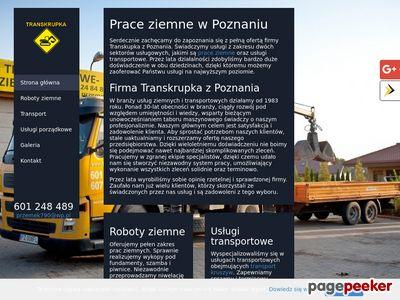 Transkrupka usługi koparko ładowarką Poznań