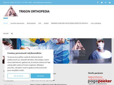 Operacja stopy, haluksa, kręgosłupa - TRIGON ORTHOPEDIA