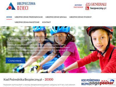 Ubezpieczenia Dzieci - Kod Opiekuna Bezpieczny.pl 20300