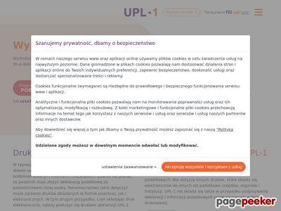 Formularz UPL-1 2015