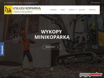 Usługi minikoparką Tomasz Ościłowicz