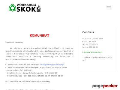 Wielkopolska SKOK - usługi finansowe: pożyczki, konta, ROR