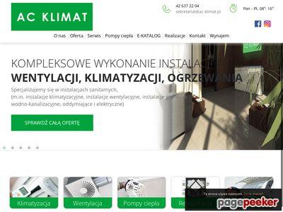 AC KLIMAT SP.J. ŁÓDŹ projektowanie instalacji klimatyzacyjnych