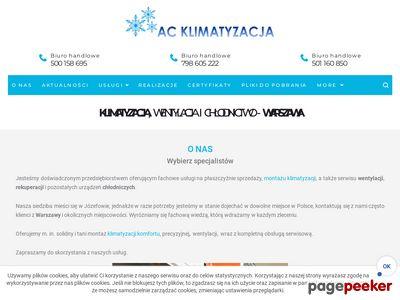 AC Klimatyzacja Usługi klimatyzacji wentylacji i chłodnictwa