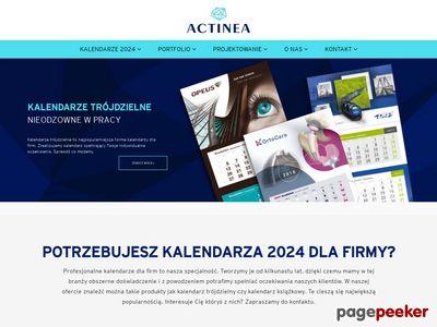 Actinea - kalendarze trójdzielne, plakatowe, książkowe