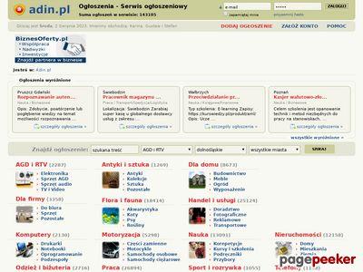Kupię, sprzedam i zamienię - ogłoszenia w Adin.pl