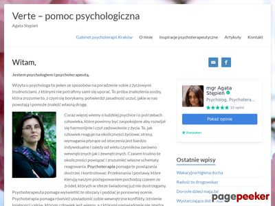 Psycholog Psychoterapia Kraków