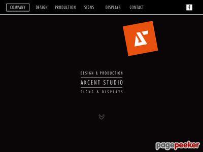 Stojaki Reklamowe, Litery Przestrzenne, Reklama Wizualna - Akcent Studio
