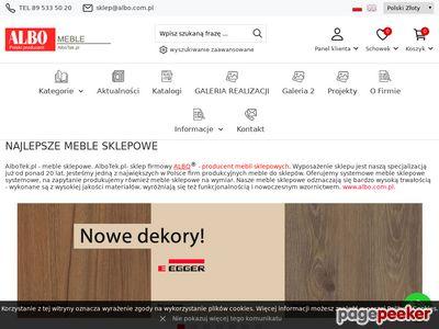 AlboTek.pl - Meble sklepowe i wyposażenie sklepów.