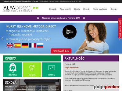 Alfa Direct - szkoła językowa Poznań